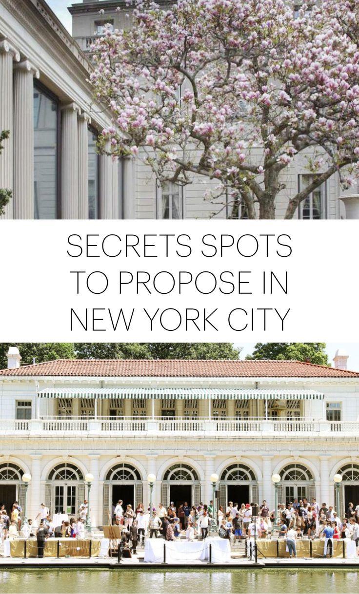 102 mejores im genes sobre proposal ideas en pinterest for Secret romantic places nyc