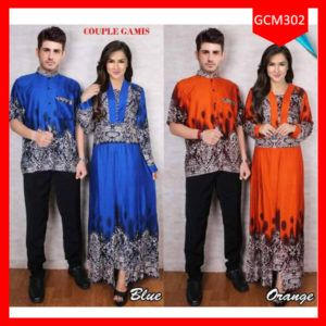 Fashion Baju Couple Batik Gamis Teria Terlaris