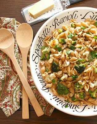 pasta with roasted vegetables.....contains two heads of roasted garlic!