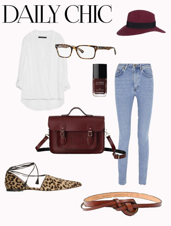 Daily Chic Style Board. Perfect day to day look and for a sunday brunch.