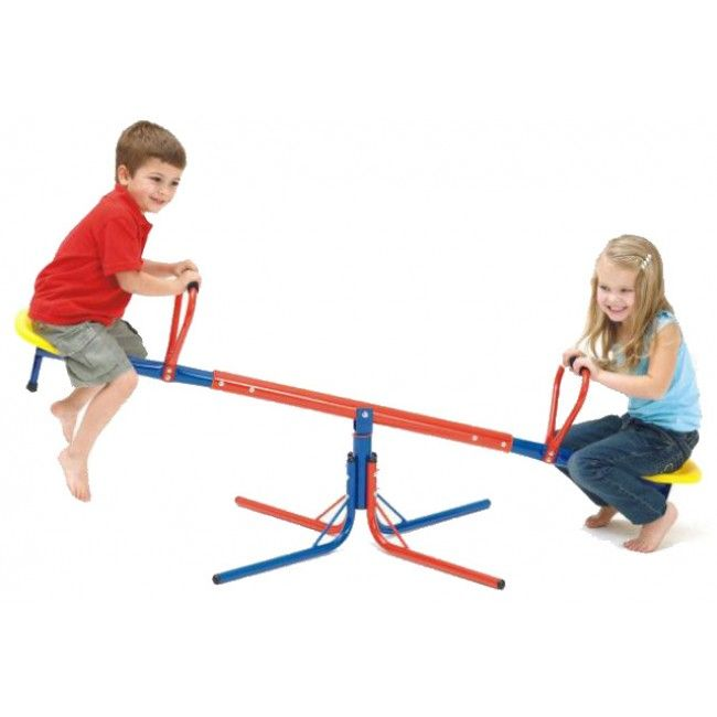 The seesaw... what a classic! It forms a part of almost everyone's childhoods and makes a perfect addition to the backyard. This one rotates 360 degrees, hence the name, adding a whole new dimension of fun! It offers so much active entertainment, your little ones won't want to get off. #activetoys #entropytoys #toystore #outdoors #activeliving