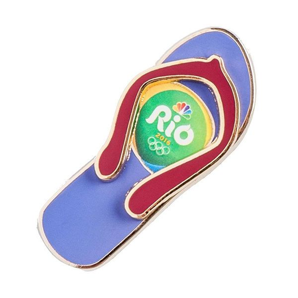 Rio 2016 Olympics Flip Flop Metal Pin