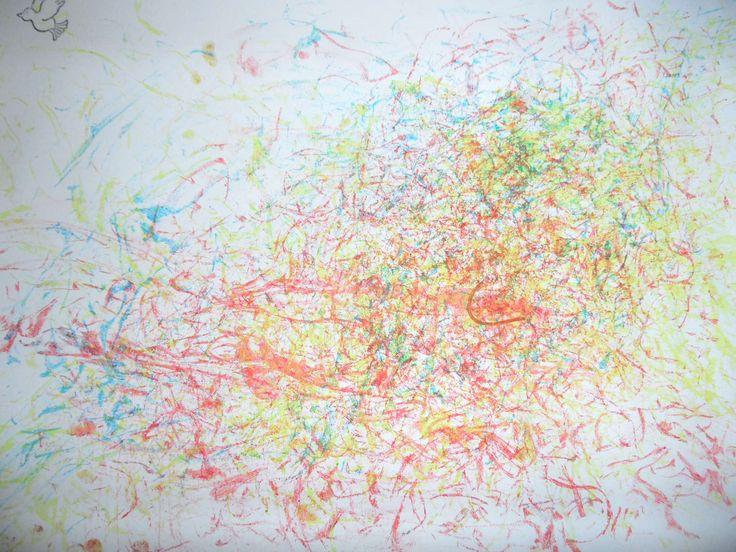 schilderen met spaghetti (4-jarigen)