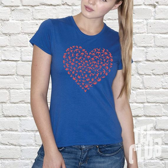 Valentines T-shirt Love shirt valentines gift sparrows by TeeClub