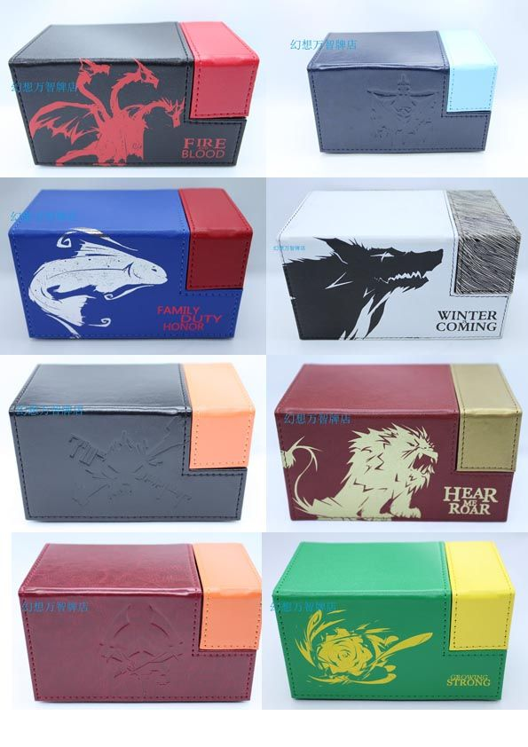 Box for Playing Cards with Game of Thrones House Symbol // Price: $42.95 & FREE Shipping //  We accept PayPal and Credit Cards.    #gameronboard #boardgame #cardgame #game #puzzle #maze #toys #chess #dice #kendama #playingcards #tilegames