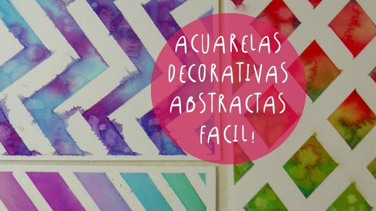 Acuarelas decorativas con cinta de papel (cinta de enmascarar) by ART TV...
