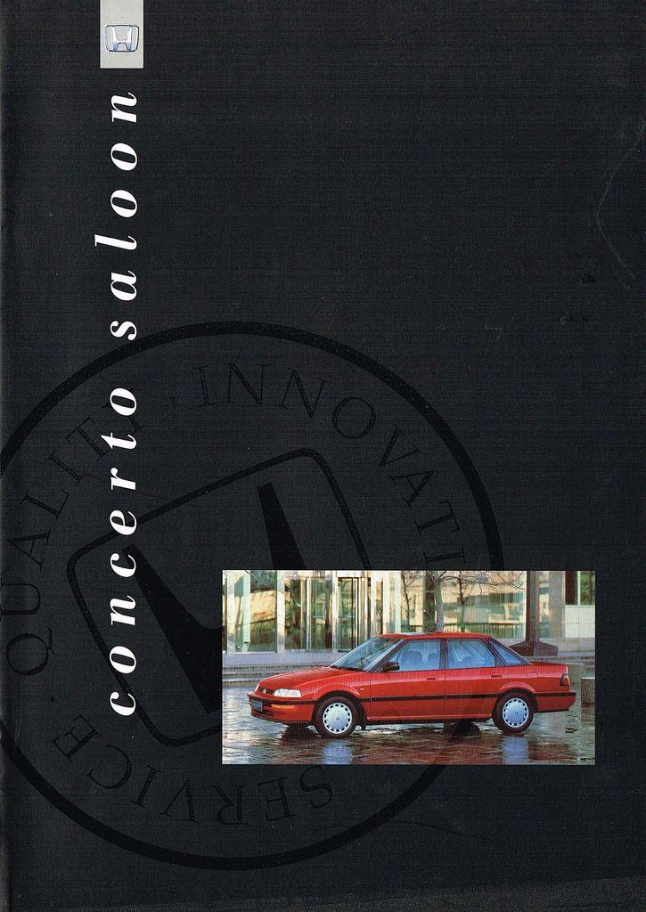 Honda Concerto Saloon UK Brochure 1991