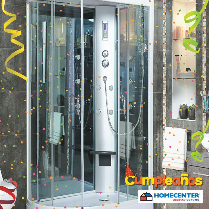 Consigue la ducha soñada en la última semana de #CumpleañosHomecenter.