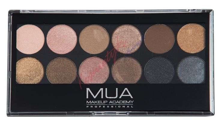 MUA Eyeshadow Palette Paleta 12 Cieni Do Powiek Undressed 110673