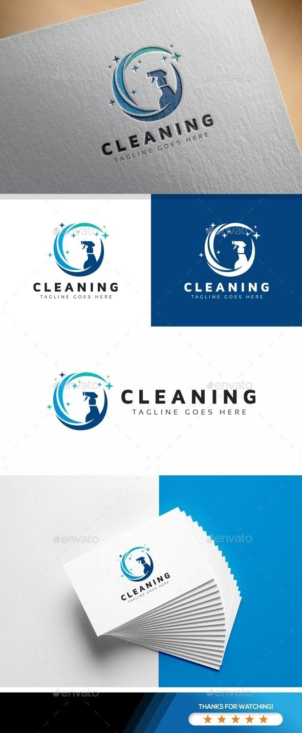 Cleaning Logo Cleaning Logo Premade Logo Templates Logo Design Template