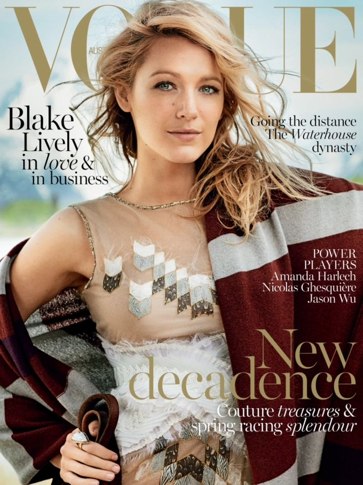 Vogue Australia November 2014 | Blake Lively by Mario Testino #Covers2014