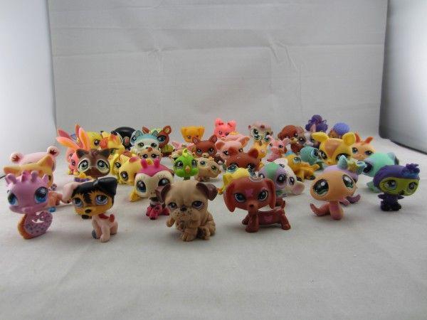 20Pcs/lot Cute Littlest Pet Shop Toys Lot Figures Collection Toy Cat Dog Loose Kids Action Figure Toys For Children
