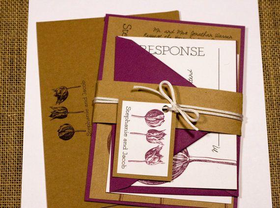 Vintage Style Engraved Botanical Purple by LemonSquareDesigns, $4.00