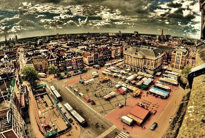 Skyline van Groningen, mijn woonplaats.