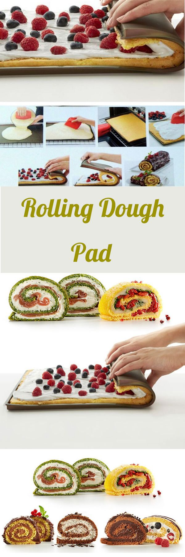 US$6.59 Non-stick Silicone Oven Baking Mat Swiss Roll Baking Sheet Rolling Dough Pad#newchic#home#kitchen#food