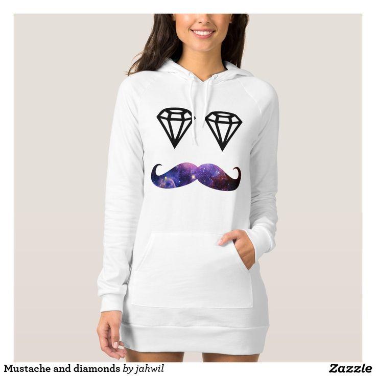 #mustacheanddiamonds #mustache #diamonds #space #nebula #hoodiedress Mustache and diamonds shirt