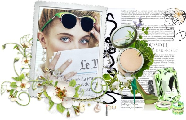 """Love the green"" by lizans on PolyvoreLizan, Green, Polyvore, Moodboard"