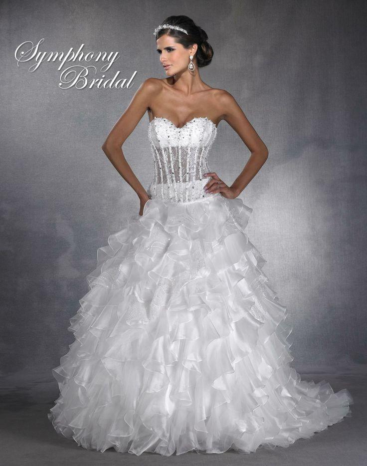 44 best symphony bridal images on pinterest short for Las vegas wedding dresses