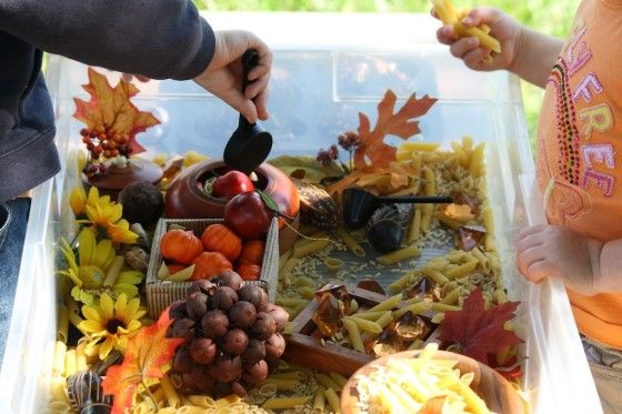 fall sensory bin - happy hooligans - fall sensory play