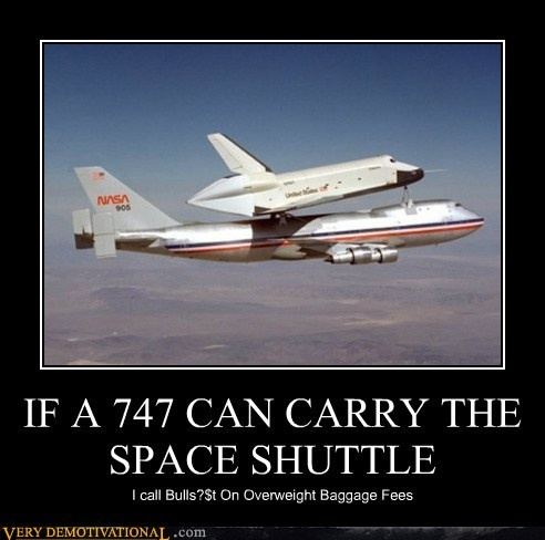 One should not forget though that there is passengers and cargo on those planes as well ... ;)