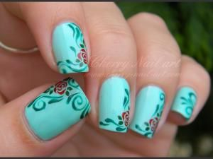 nail art stamped   Tuto video nail art roses stamping nouvelle generation
