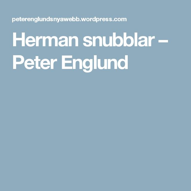 Helt fantastisk bokrecension av Peter Englund!!!