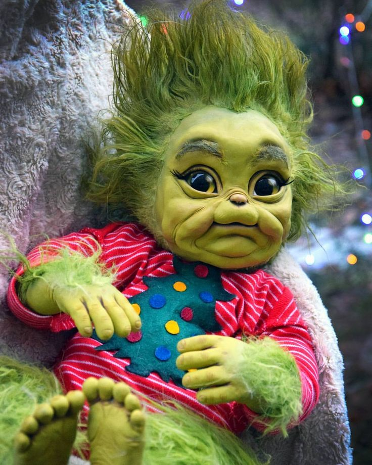 Baby Grinch Wish You A Merry Christmas Holidays