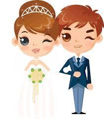 Resultado de imagen para dibujos de novios de boda para imprimir
