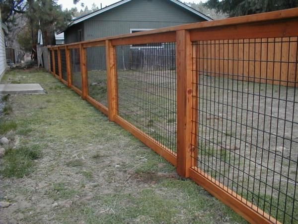 large yard fencing ideas in 2019 | Wire fence panels, Wood
