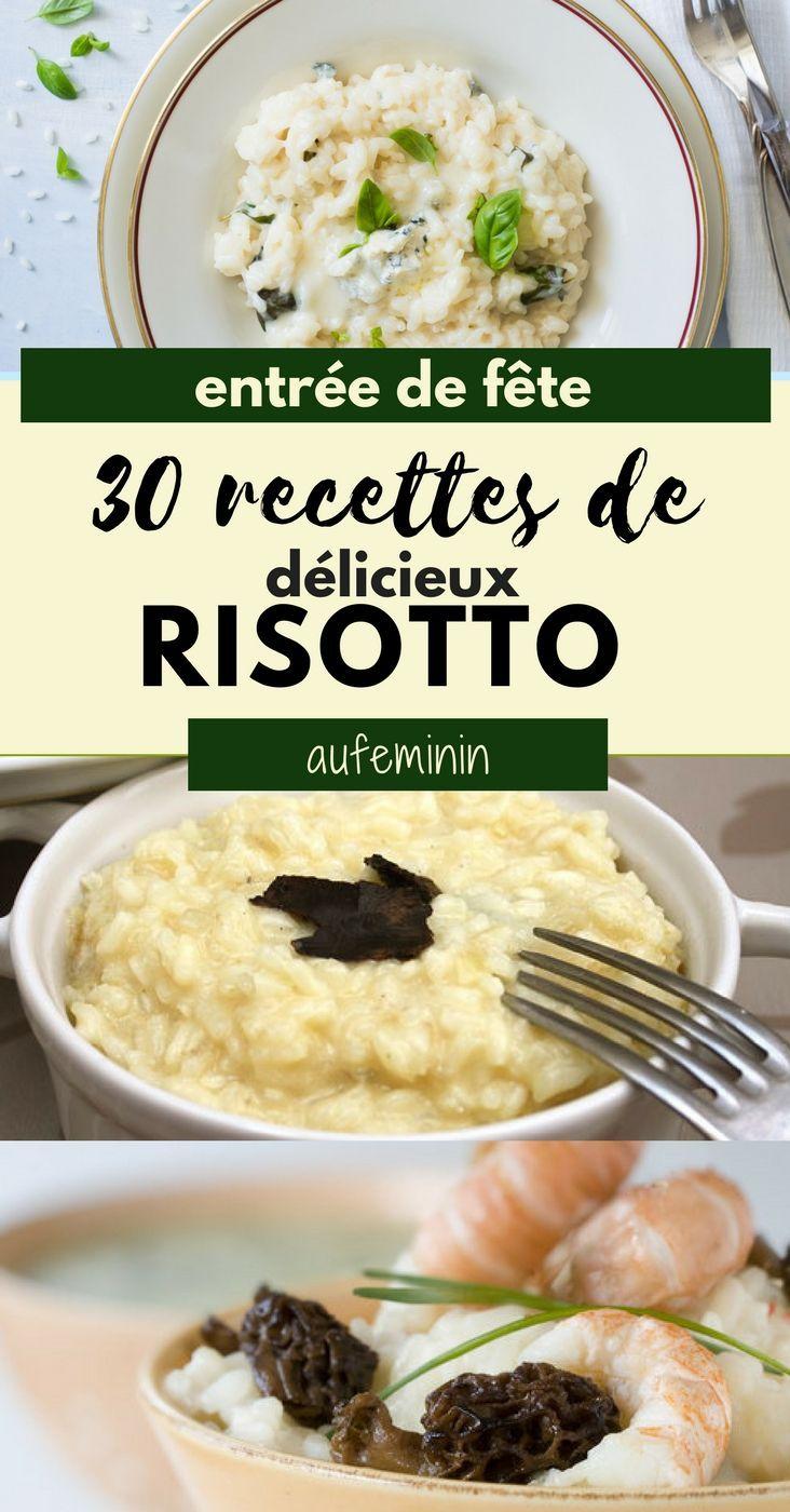 Le risotto, en entrée ou en plat, facile et pas cher. On y ajoute une touche de truffe, des pointes d'asperges ou des morilles et cela constitue une délicieuse recette de fête. / / / #aufemini #rectte #risotto #recettedefête #fêtes #noël #réveillon #menu #cuisiner #recetteitalienne
