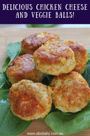 Delicious Chicken Cheese And Veggie Balls - ABC Blog - Australian Baby Card