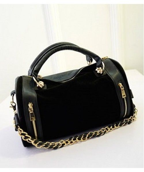 Tas Import P212-BLACK Tas Korea Murah Banget Merek Berkualitas IMPORT 100% DI JAMIN ! Material : PU leather Length:    32 cm Height:    21 cm Depth:      12 cm Bag Mouth: Zipper Long Strap:   yes 1 kg   ..