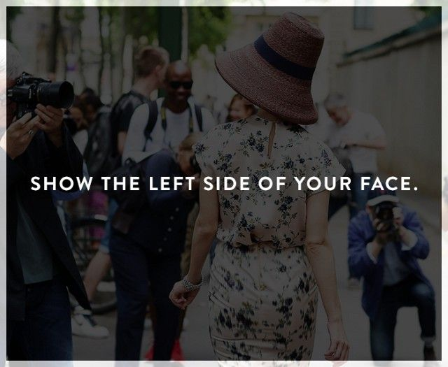 """Most people know their """"good side,"""" but according to fashion photographer Garance Doré and a scientific study, usually the left side of the face is more attractive."""