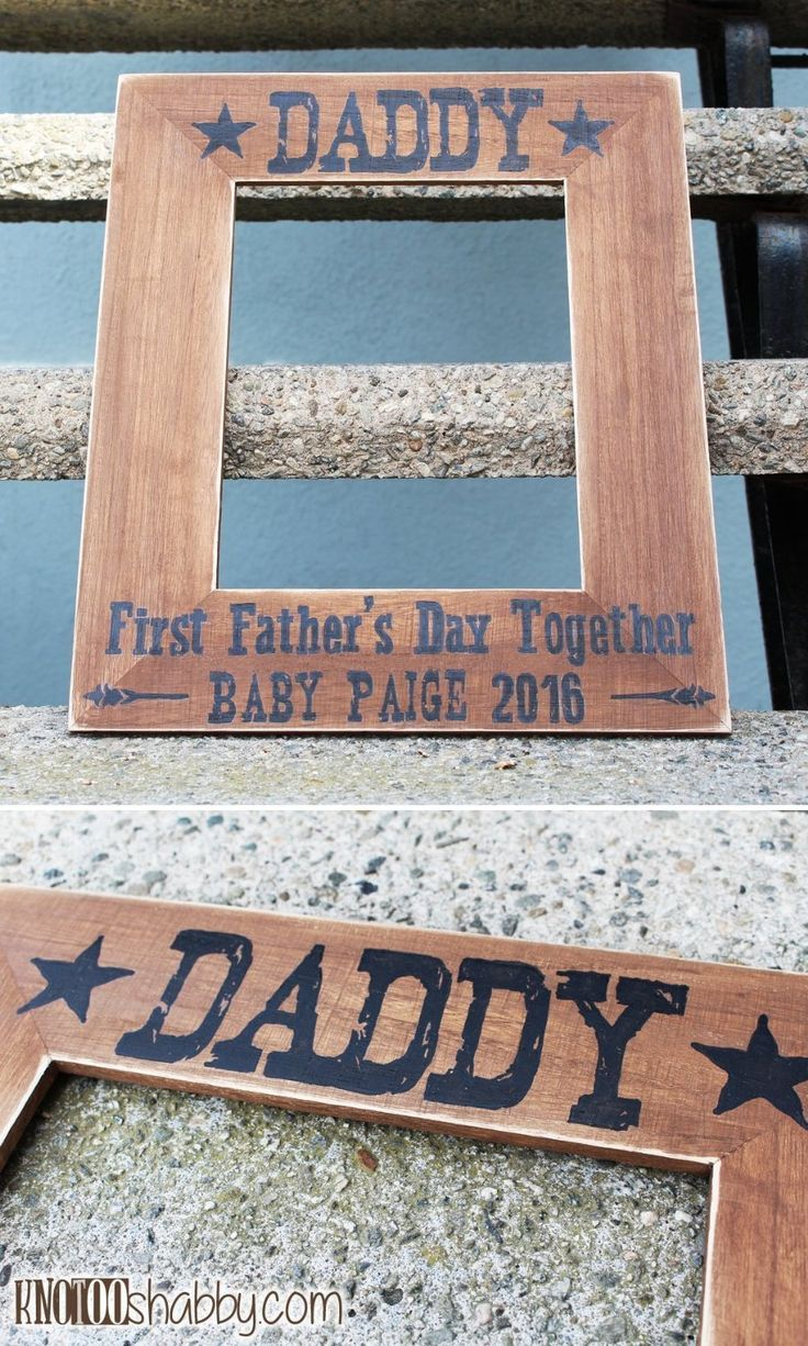 Amazon.com: Daddy's First Father's Day Together Personalized Picture Frame, Father's Day Gift.: Handmade