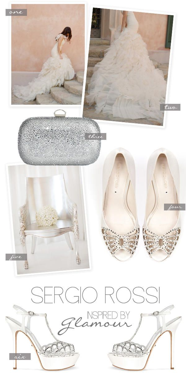 Glamour inspired by Sergio Rossi http://www.sergiorossi.com/us/en/bridal/bridal-collection.aspx