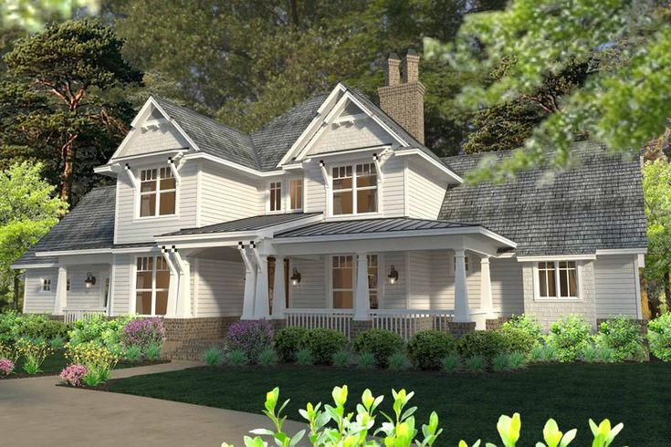 Craftsman Style House Plan - 3 Beds 2.5 Baths 2575 Sq/Ft Plan #120-183 Exterior - Front Elevation - Houseplans.com