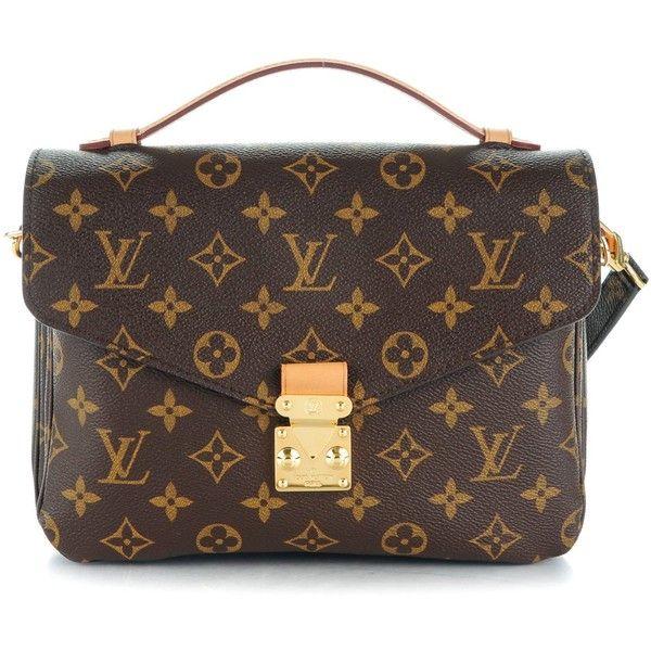 LOUIS VUITTON Monogram Pochette Metis ❤ liked on Polyvore featuring bags, louis vuitton messenger bag, locking courier bag, lock bag, flap lock bags and flap bag