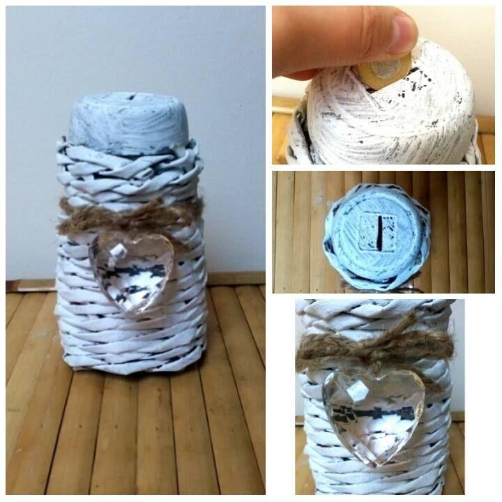 skarbonka z wikliny papierowej