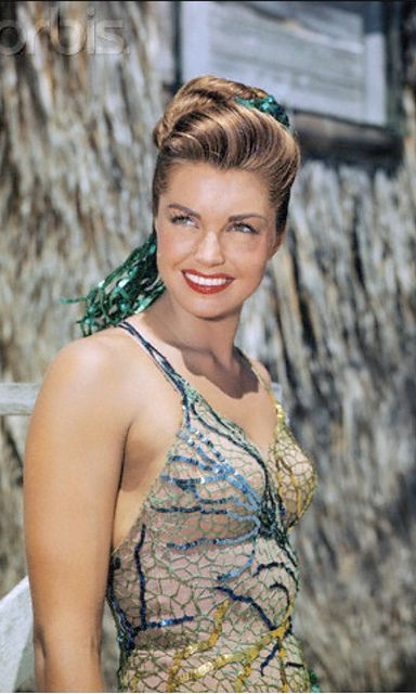 Esther Williams. I loved her movies. Cool bathing suit in this one