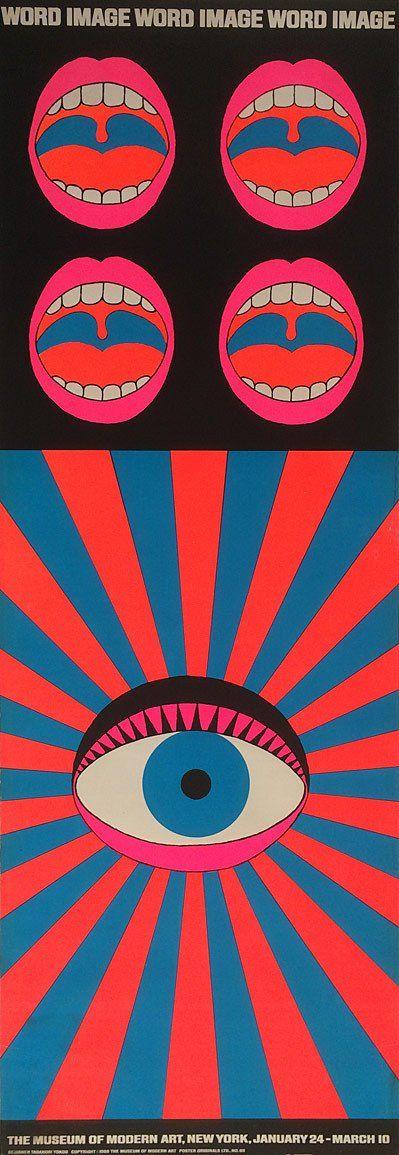 Word and Image, MoMA exhibition poster by Tadanori Yokoo, 1968. Screenprint; 435 x 1240 mm