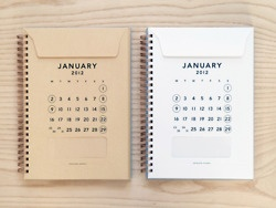 journal that has a slot for each month. to put notes, tickets, & any other memorabilia.
