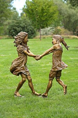 Whirlwind - Angela Mia De La Vega - Elegant Bronze Figurative Sculpture