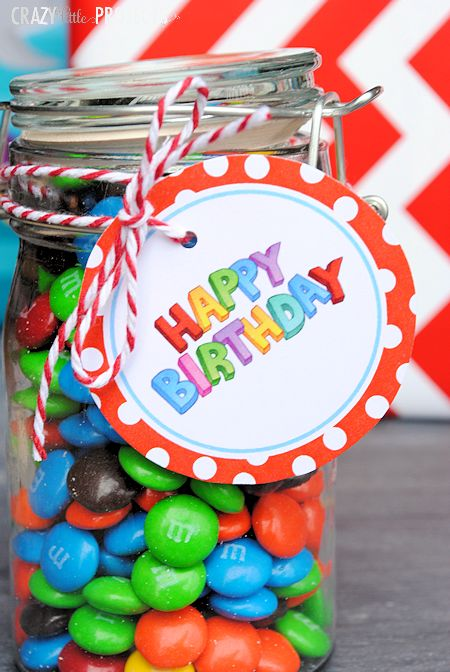 Birthday Gift Tags by Crazy Little Projects.  Free, fun, printable birthday tags brighten any gift.  For a festive cardstock try Pebbles Incs - Party Time from the Hip Hip Hooray Collection available at www.cardstockshop.com.