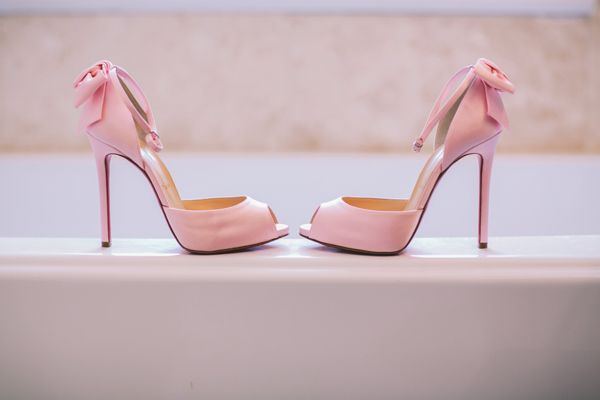 http://www.love4wed.com/designer-wedding-shoes/ #pinkweddingshoes