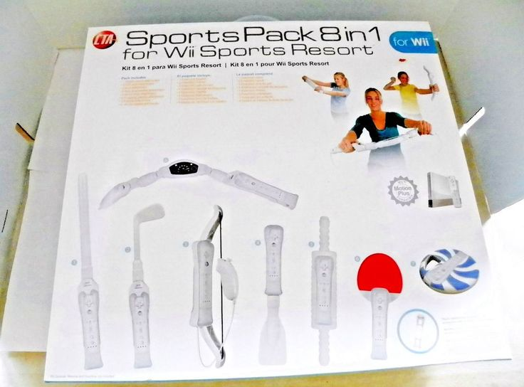 Wii Sports Pack Wii Sports Resort Motion Plus 8 In 1 White FREE SHIP #CTADigital