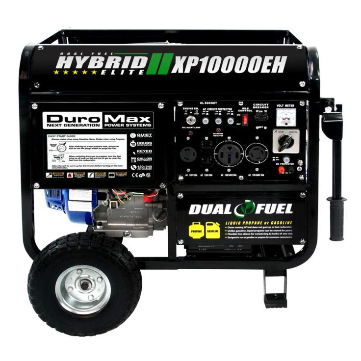 DuroMax 10000 Watt Hybrid Dual Fuel Portable Gas Propane Generator - RV Standby #ad