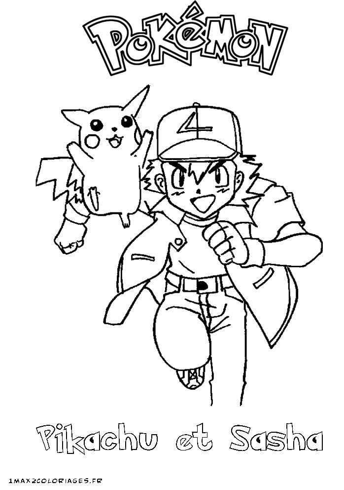 Vous Pouvez Telecharger Et Imprimer Coloriage De Pokemon Sacha Et