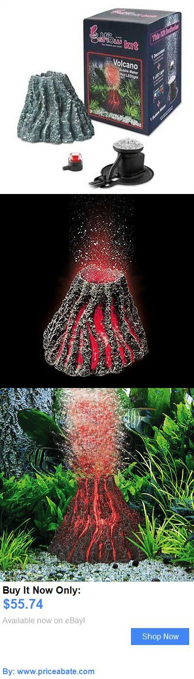 Animals Fish And Aquariums: Volcano Red Led Bubbles Fish Tank Aquarium Decoration Ornament Decor Light BUY IT NOW ONLY: $55.74 #priceabateAnimalsFishAndAquariums OR #priceabate