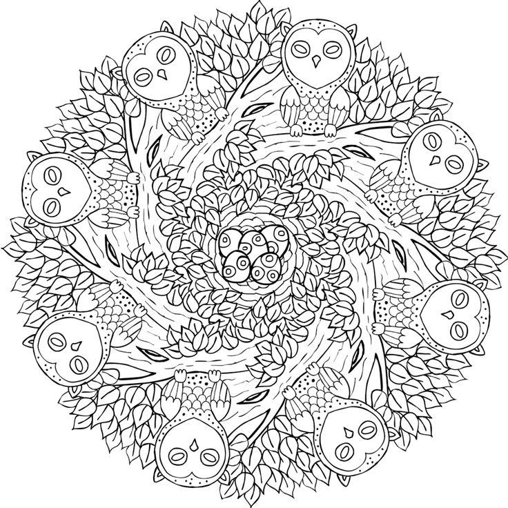 old souls free printable mandala coloring page from mondaymandalacom