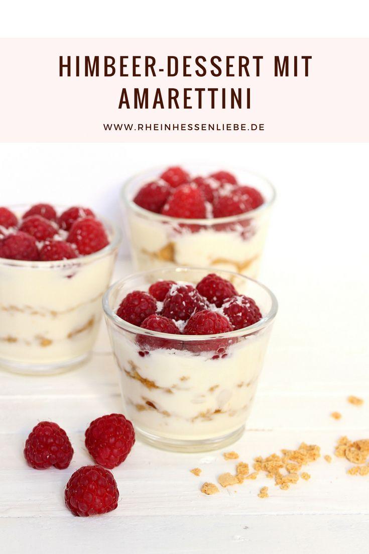 Sommerliches Himbeer-Dessert mit Amarettini